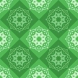 Groen Naadloos abstract ornament, vectorpatroon vector illustratie