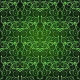 Groen naadloos behang Stock Illustratie