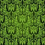 Groen naadloos behang Royalty-vrije Illustratie