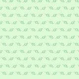Groen naadloos bloemenpatroon in retro stijl Royalty-vrije Stock Foto's