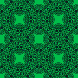 Groen naadloos ornament Vector Illustratie