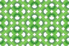 Groen Naadloos Patroon met witte Ronde Royalty-vrije Illustratie