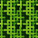Groen naadloos patroon van plus tekens het 3D teruggeven royalty-vrije illustratie