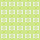 Groen naadloos sneeuwvlokpatroon Royalty-vrije Stock Foto's