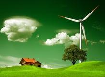 Groen natuurlijk milieu Stock Afbeelding