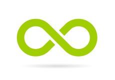 Groen oneindigheids vectorsymbool Stock Afbeelding