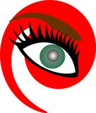 Groen oog Royalty-vrije Stock Afbeeldingen