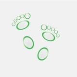 groen op witte voet als achtergrond Royalty-vrije Stock Foto
