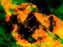 Groen-oranje achtergrond Stock Afbeeldingen