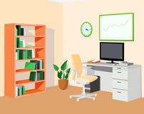 Groen oranje ecobureau Stock Fotografie