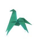 Groen origamipaard royalty-vrije stock afbeeldingen