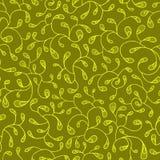 Groen overladen naadloos patroon Stock Foto