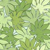 Groen palmbladen naadloos patroon Stock Afbeelding