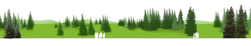 Groen Panorama Royalty-vrije Stock Afbeeldingen