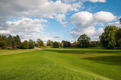 Groen park in Roskilde Denemarken royalty-vrije stock afbeelding