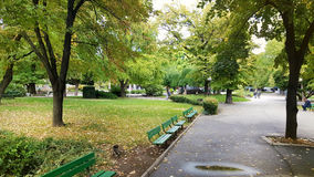 Groen park in Stara Zagora royalty-vrije stock foto's
