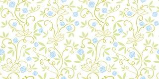 Groen patroon met abstracte installatie royalty-vrije illustratie