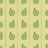 Groen peren naadloos patroon Royalty-vrije Stock Foto