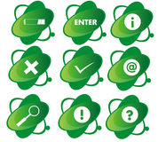 Groen pictogram Stock Foto