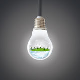 Groen planeetconcept Milieu van de de Aardecologie van de windturbine het Schone stock foto