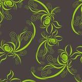 Groen plantaardig patroon Royalty-vrije Stock Fotografie