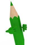Groen potlood Royalty-vrije Stock Afbeeldingen