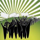 Groen protest Royalty-vrije Stock Afbeelding