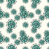 Groen radertje abstract naadloos patroon op een lichte achtergrond Royalty-vrije Stock Foto's