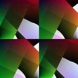 Groen-rode naadloze abstracte achtergrond. Stock Afbeelding