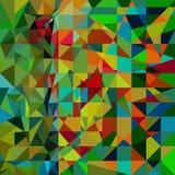 Groen-rode veelhoekige mozaïekachtergrond Stock Afbeeldingen