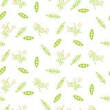 Groen schat naadloos vectorpatroon royalty-vrije illustratie
