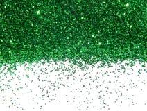 Groen schitter fonkeling op witte achtergrond Stock Afbeeldingen