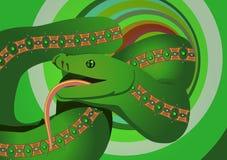 Groen serpent Royalty-vrije Stock Afbeeldingen