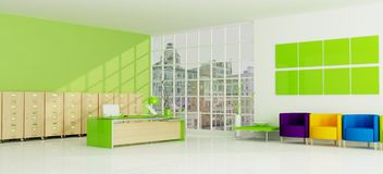 Groen stadsbureau Royalty-vrije Stock Afbeelding