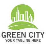 Groen stadsembleem Stock Foto