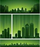 Groen stadsontwerp Stock Afbeeldingen