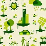 Groen stadspatroon Stock Foto's