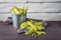Groen Sugar Snap Peas Stock Afbeeldingen