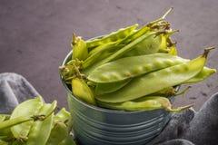 Groen Sugar Snap Peas Stock Afbeelding