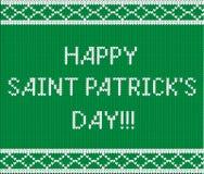 Groen sweaterpatroon De Dagconcept van heilige Patrick ` s Royalty-vrije Stock Foto