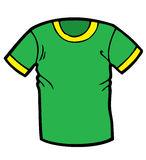 Groen T-shirtbeeldverhaal Royalty-vrije Stock Foto