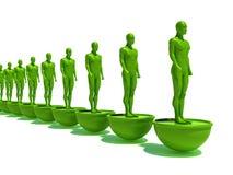 Groen team Royalty-vrije Stock Foto's
