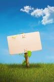 Groen teken - eco vriendschappelijke mededeling Stock Foto
