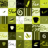 Groen theepatroon stock illustratie