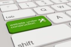 Groen toetsenbord - website in aanbouw - Royalty-vrije Stock Fotografie