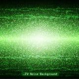 Groen TV-van het lawaai geometrisch mozaïek patroon als achtergrond Stock Fotografie
