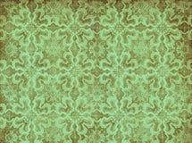 Groen uitstekend behang Royalty-vrije Stock Foto's