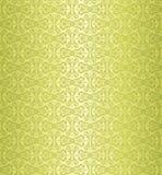 Groen uitstekend behangontwerp Stock Foto's