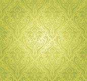 Groen uitstekend behangontwerp Royalty-vrije Stock Foto