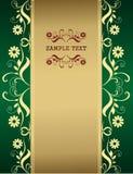 Groen uitstekend malplaatje Stock Afbeelding